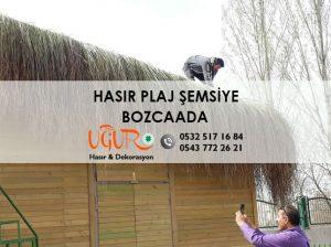 Bozcaada Hasır Plaj Şemsiye