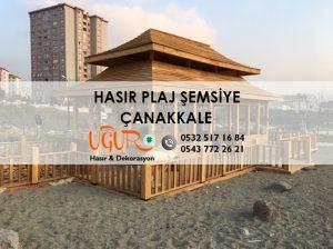 Çanakkale Hasır Plaj Şemsiye